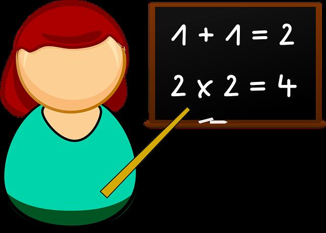paní učitelka ilustrace