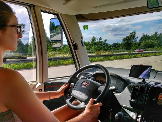 řidička dodávky